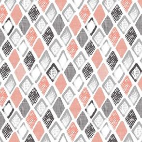 Hand drawn rhombus abstract scandinavian design