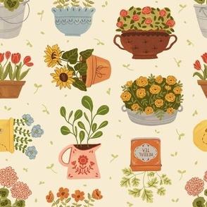 Some Flower Pots