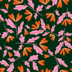 Sprinkle Floral - Evergreen Pink