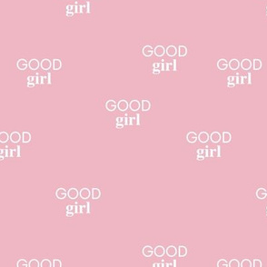 Good girl - sweet minimalist dogs and cats design for pet lovers text saying soft pink  girls
