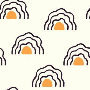 Egg rainbows - Boho Fabric