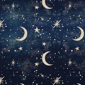 Stardust Galaxy - Moon & Stars
