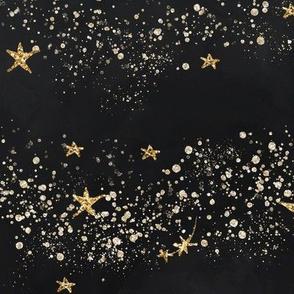 Stardust Galaxy Gold & Black