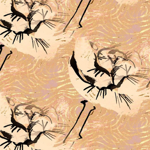 Japandi Flower - Tan