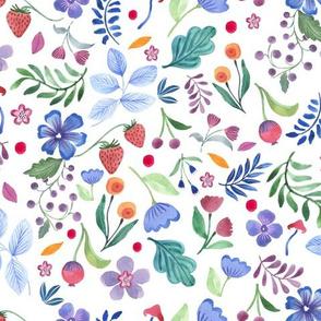 Flowers, Leaves, Strawberries & Mushrooms