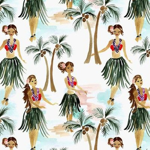 Hula Dancers M