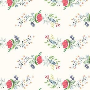 Red Flower Folk Print