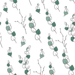 Eucalyptus botanical print