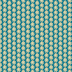 blue and yellow flower stripe