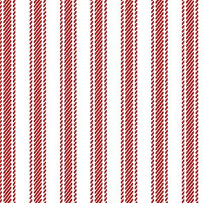 Country Red Stripe Ticking