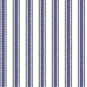 Navy Blue Stripe Ticking