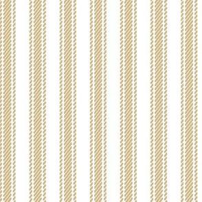 Gold Stripe Ticking
