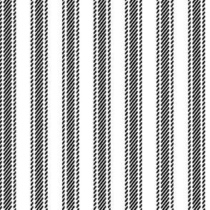 Black Stripe Ticking