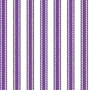 Purple Stripe Mattress Ticking