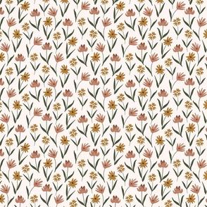 boho watercolor floral earth tones