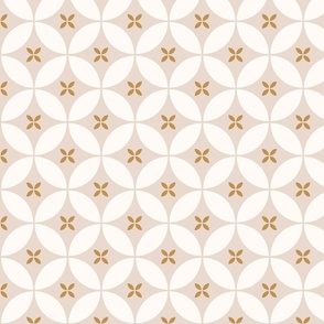 minimal moroccan tiles blush and gold