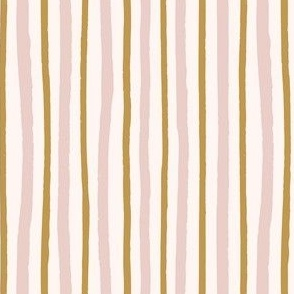 wonky lines pink and gold