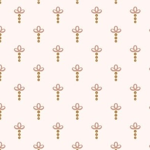 modern abstract boho pink gold and cream