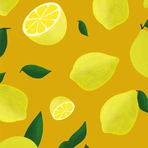 lemons on orange