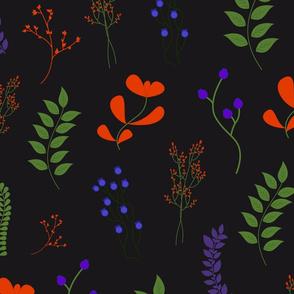 flower pattern dark