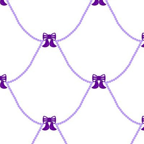 Chic Birdie Bows Purple White
