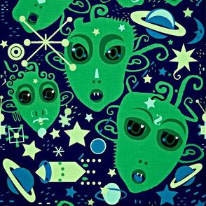 Little green men.