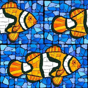 Mosaic Clownfish Blue Marble