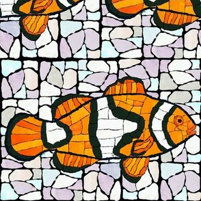 Mosaic Clownfish with Marble