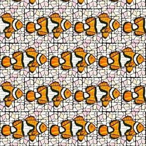 Mosaic Clownfish Marbled SM pnk