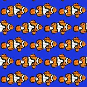 Mosaic Clownfish sea blue