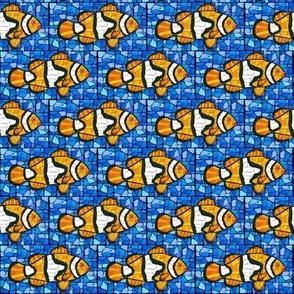 Mosaic Clownfish Blue Marble SM