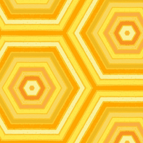 Friztin_ConcentricHexagons_mmMangoMultiYellows