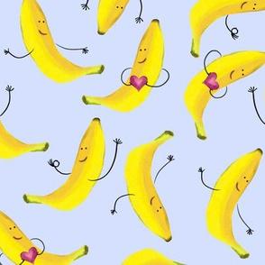 Cute Bananas on Blue
