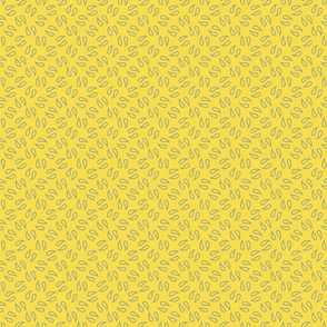 Simple paisley in Ultimate Grey and Illuminating Yellow