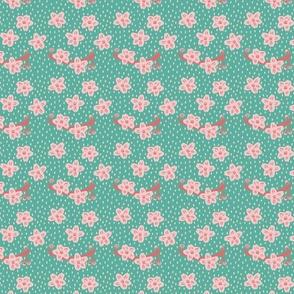 Pastel Cherry Blossom Spoonflower
