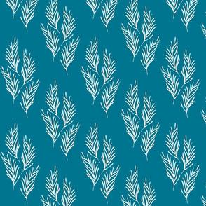 lovely leaves blue-white