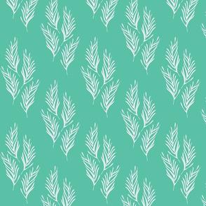 Lovely Leaves Green-White