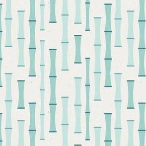 Bamboo Vertical Segments // Blue