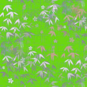 Japandi Bamboo Leaves
