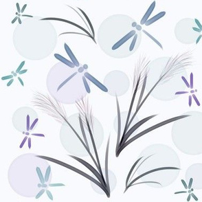 Dragonflies and Grasses
