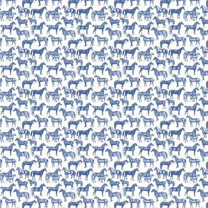 SF blue horse EXTRA SMALL pattern