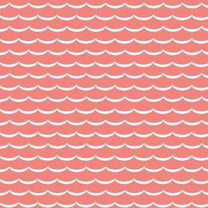 Coral scallop allover print
