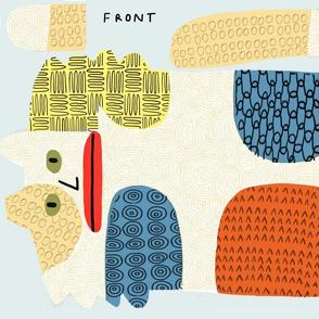 Calico plushie pattern front