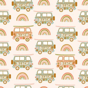 60's Baby Surf Caravan- Pastel ground