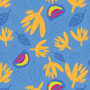 Lemon Leaves Sky Blue