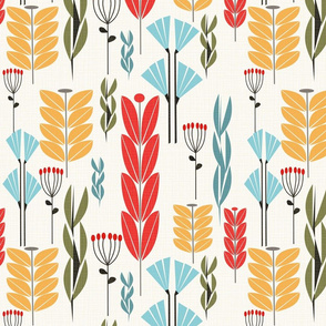Herbs and Grasses Midcentury Mood