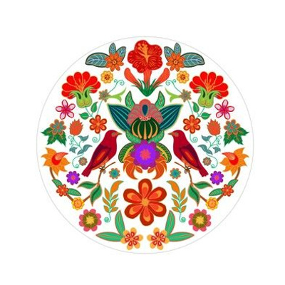 Birds & Flowers Embroidery Template
