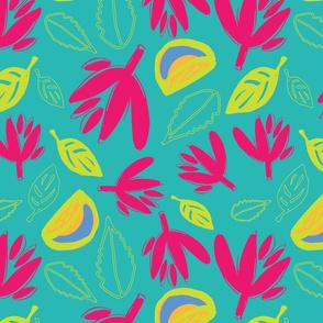 Lemon Leaves Turquoise