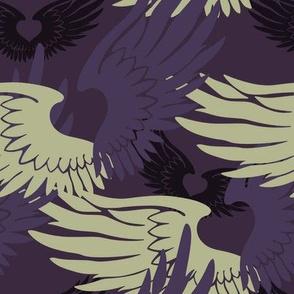 Heartwings II: Purple, Beige
