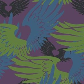 Heartwings II: Purple, Blue, Green2